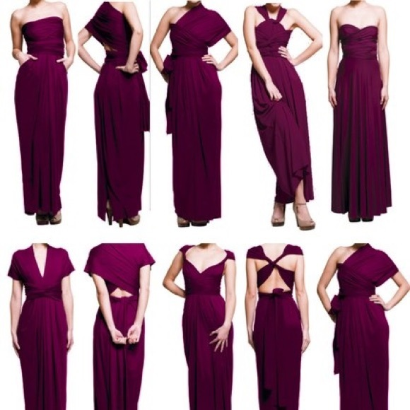 6d55d525955 Dresses   Skirts - Burgundy infinity dress with bandeau